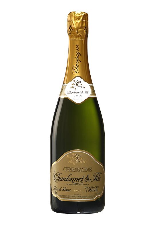Fles champagne foto